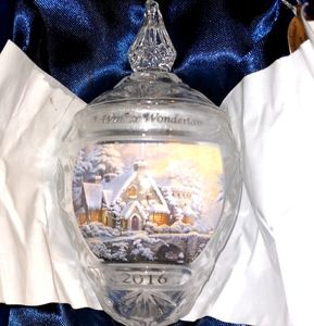 Vintage Thomas Kinkade crystal ornaments